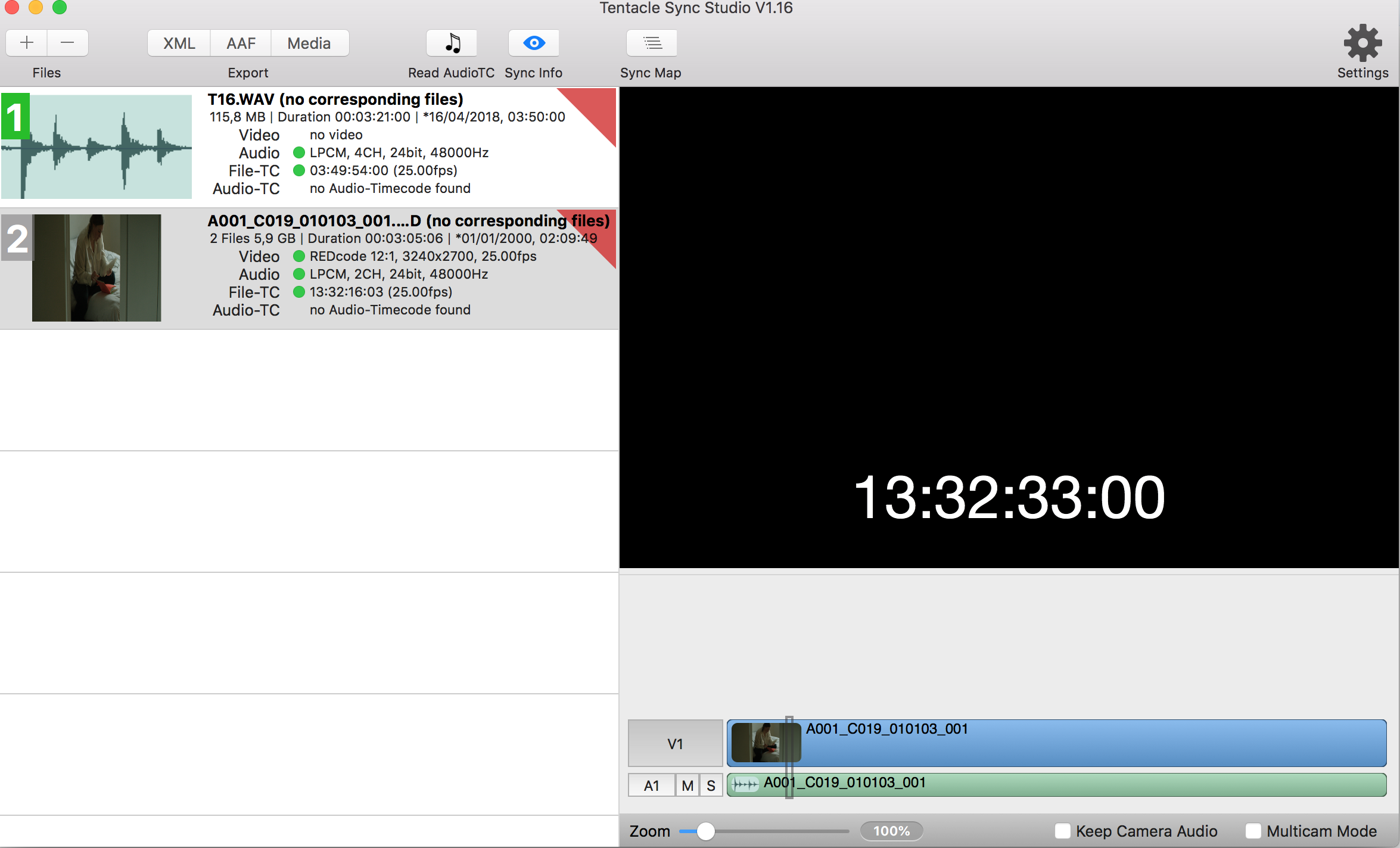 sync problem – no corresponding files / no audio-Timecode is found ...
